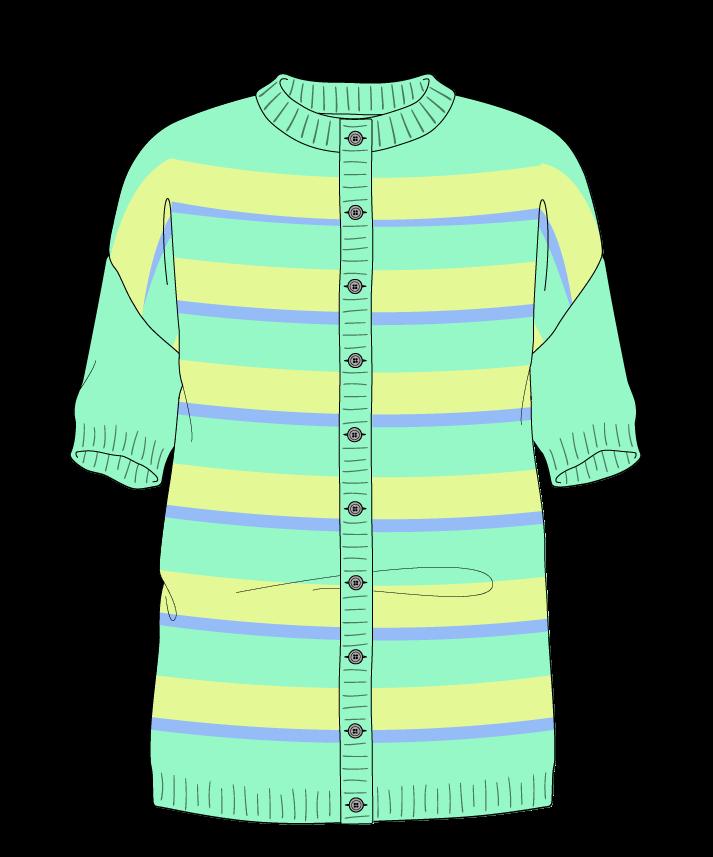 Regular fit Full length body Crew neck Short sleeve Uneven stripes Uneven stripes Plain dropshoulder-cardigan worsted 38