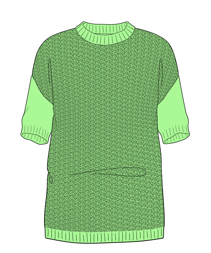 Regular fit Full length body Crew neck Short sleeve Star stitch Star stitch Plain dropshoulder sport 34