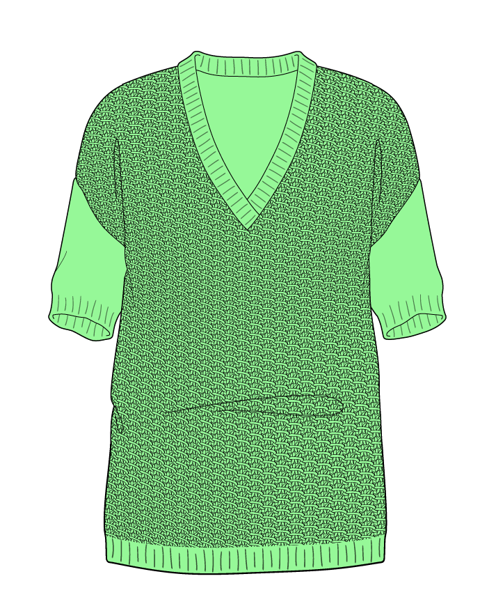 Regular fit Full length body V-neck Short sleeve Star stitch Star stitch Plain dropshoulder sport 50
