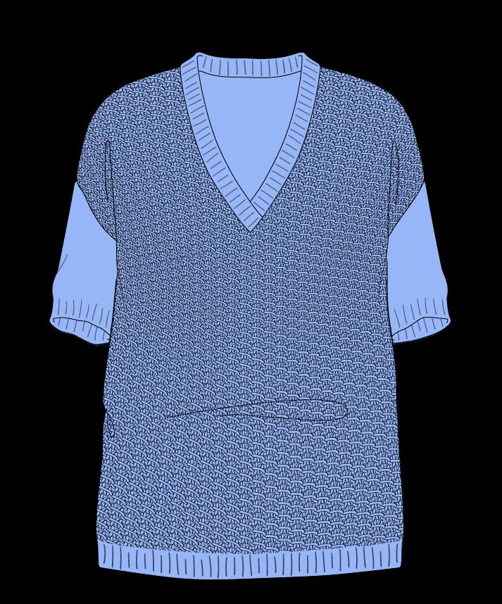 Relaxed fit Full length body V-neck Short sleeve Star stitch Star stitch Plain dropshoulder sport 30