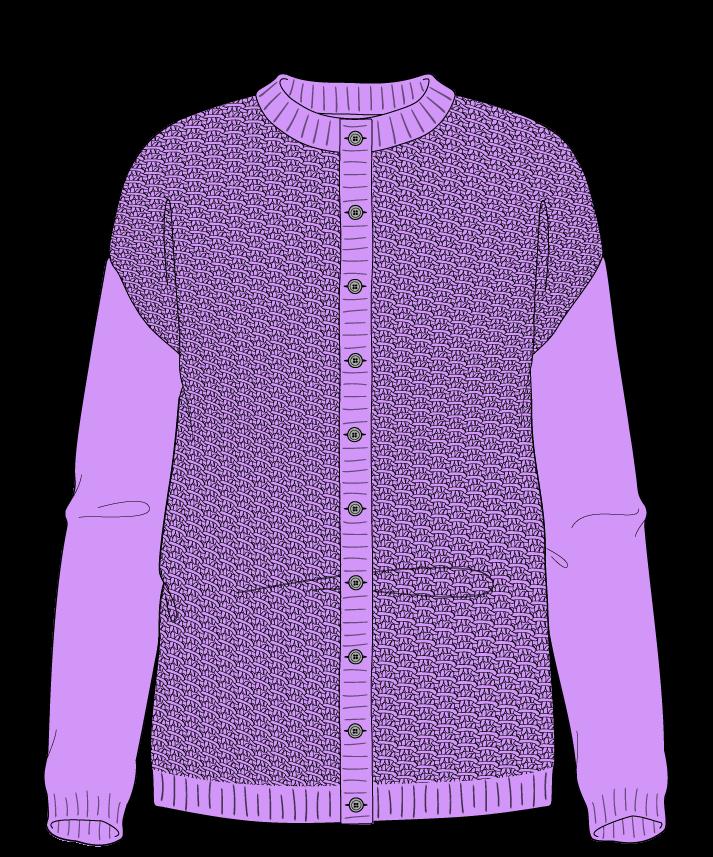 Regular fit Full length body Crew neck Long sleeve Star stitch Star stitch Plain dropshoulder-cardigan sport 30