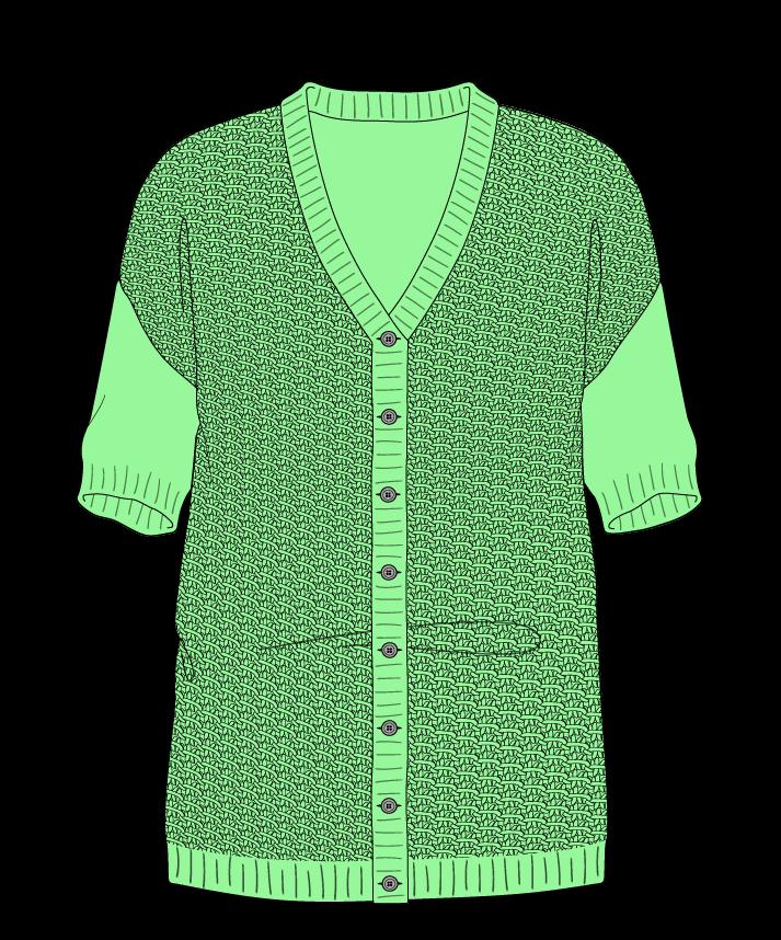 Regular fit Full length body V-neck Short sleeve Star stitch Star stitch Plain dropshoulder-cardigan sport 50
