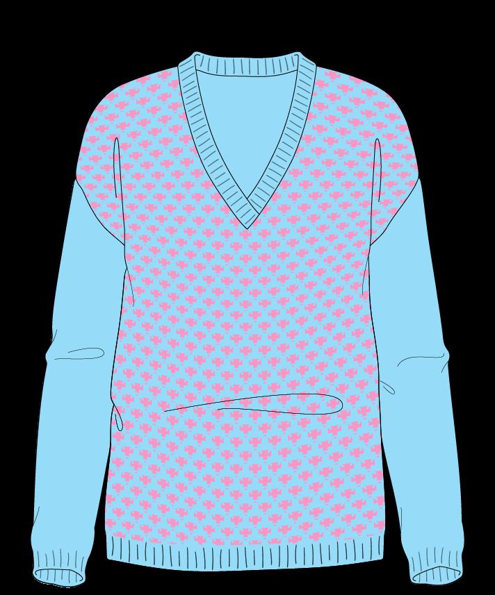 Regular fit Full length body V-neck Long sleeve Thorn stitch Thorn stitch Plain dropshoulder worsted 30