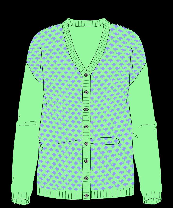 Regular fit Full length body V-neck Long sleeve Thorn stitch Thorn stitch Plain dropshoulder-cardigan sport 42