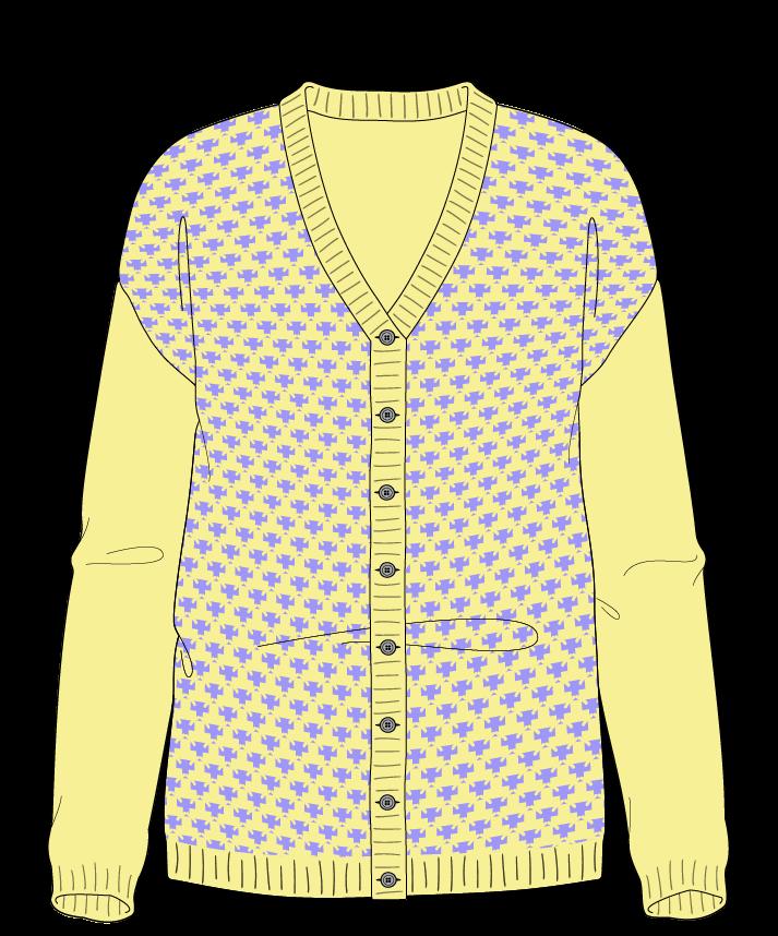Regular fit Full length body V-neck Long sleeve Thorn stitch Thorn stitch Plain dropshoulder-cardigan worsted 30