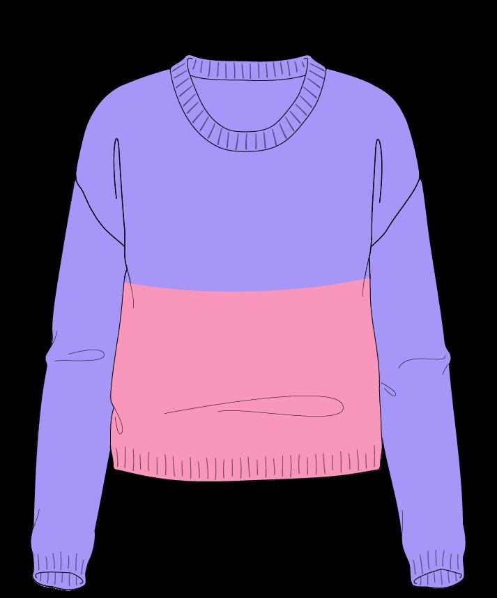 Regular fit Cropped body Scoop neck Long sleeve Colorblock 1 Plain Plain dropshoulder worsted 42
