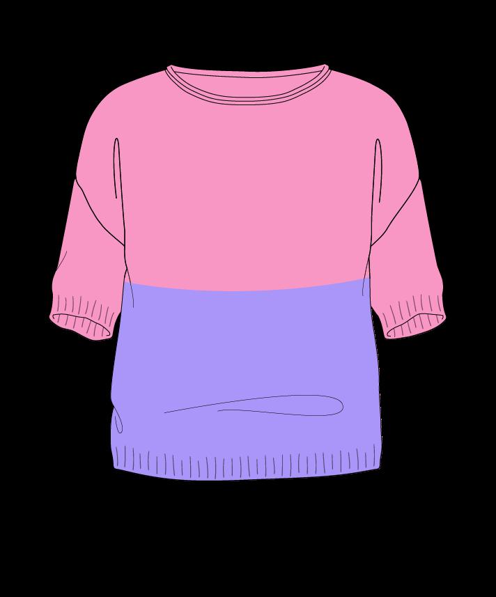 Regular fit Cropped body Boat neck Short sleeve Colorblock 1 Plain Plain dropshoulder sport 30