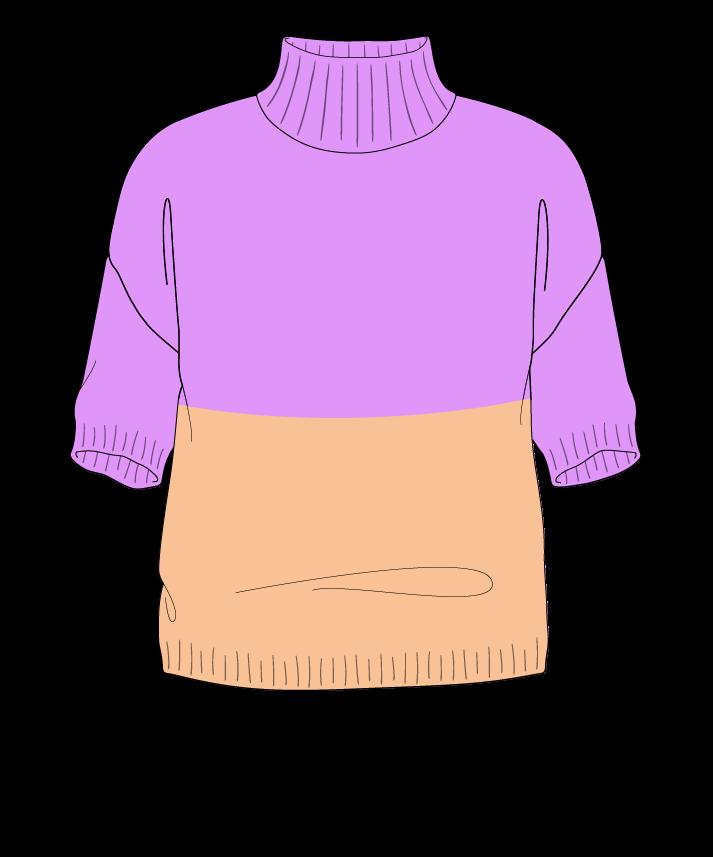 Regular fit Cropped body Mock turtleneck Short sleeve Colorblock 1 Plain Plain dropshoulder worsted 54