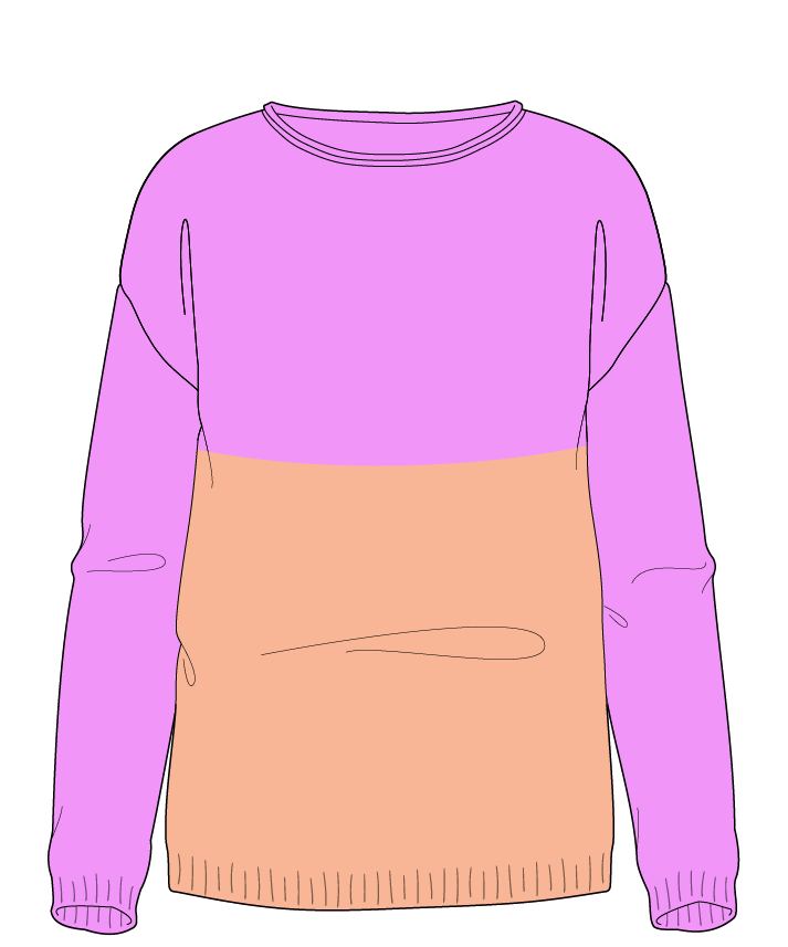 Regular fit Full length body Boat neck Long sleeve Colorblock 1 Plain Plain dropshoulder worsted 46