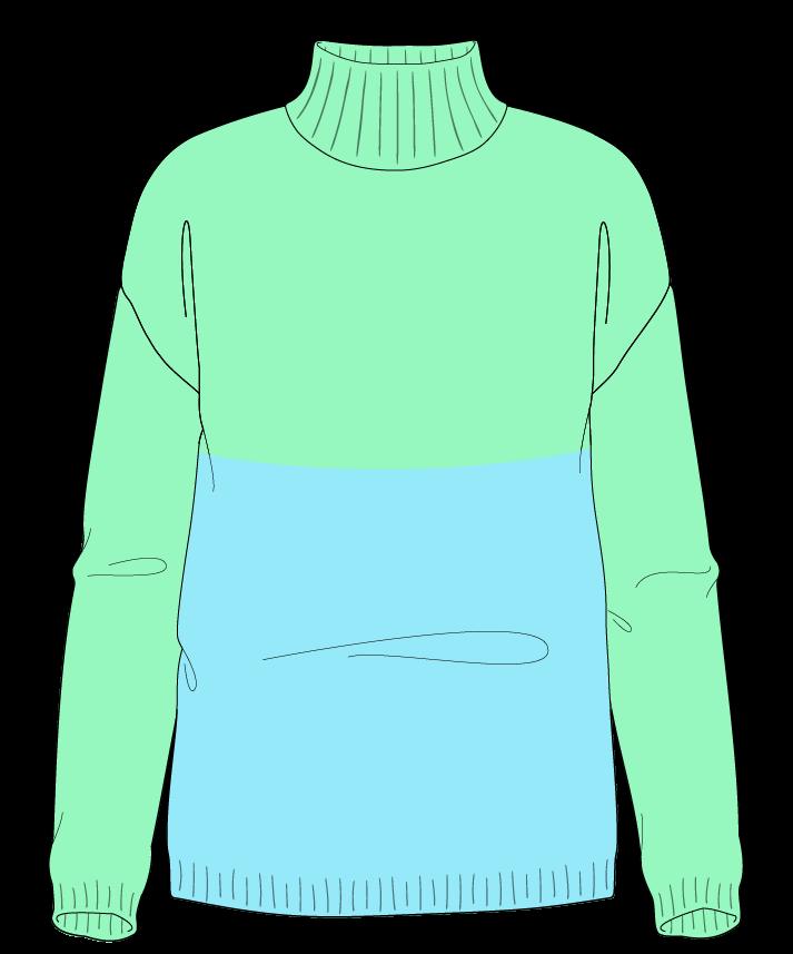 Regular fit Full length body Mock turtleneck Long sleeve Colorblock 1 Plain Plain dropshoulder sport 54
