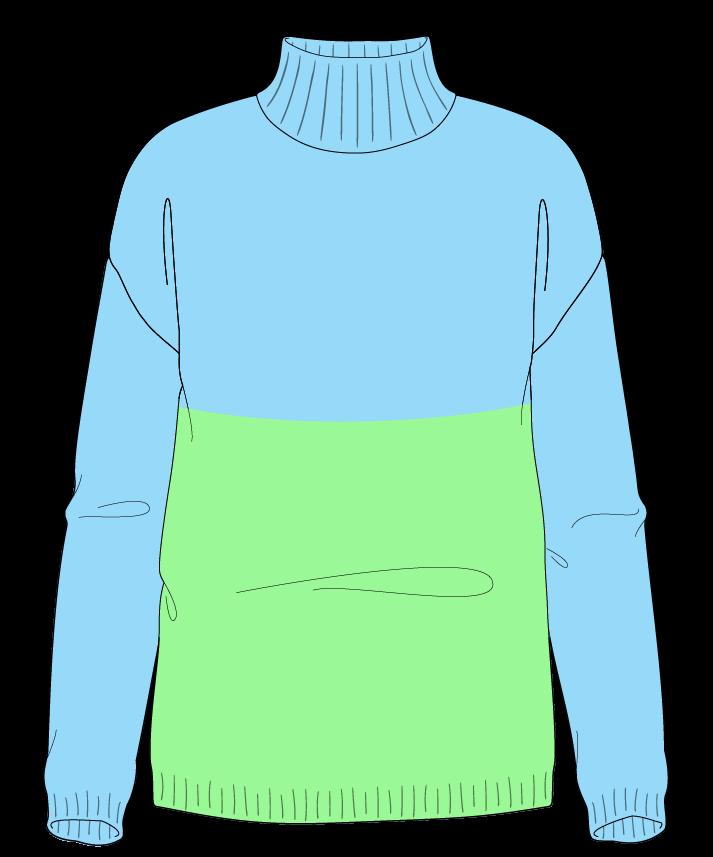 Regular fit Full length body Mock turtleneck Long sleeve Colorblock 1 Plain Plain dropshoulder worsted 38