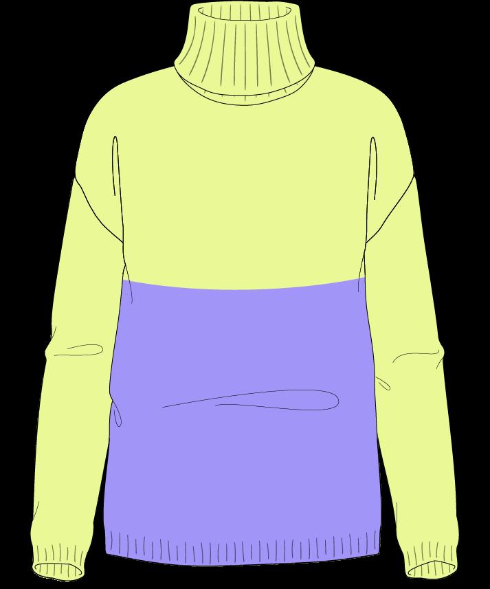 Regular fit Full length body Turtleneck Long sleeve Colorblock 1 Plain Plain dropshoulder worsted 42