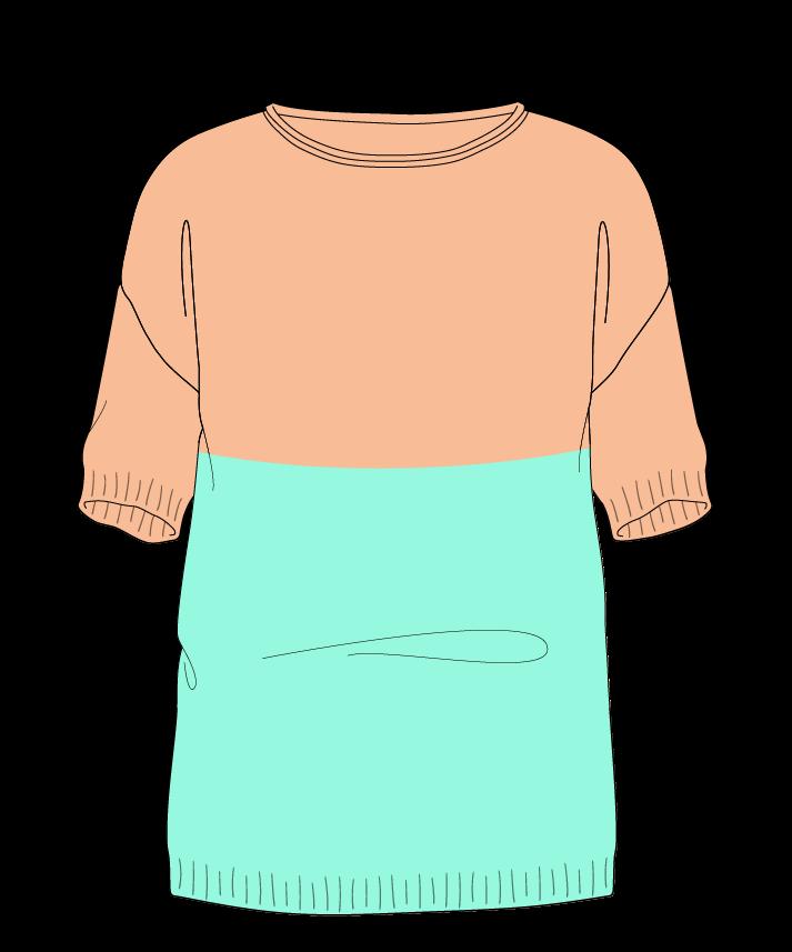 Regular fit Full length body Boat neck Short sleeve Colorblock 1 Plain Plain dropshoulder sport 30