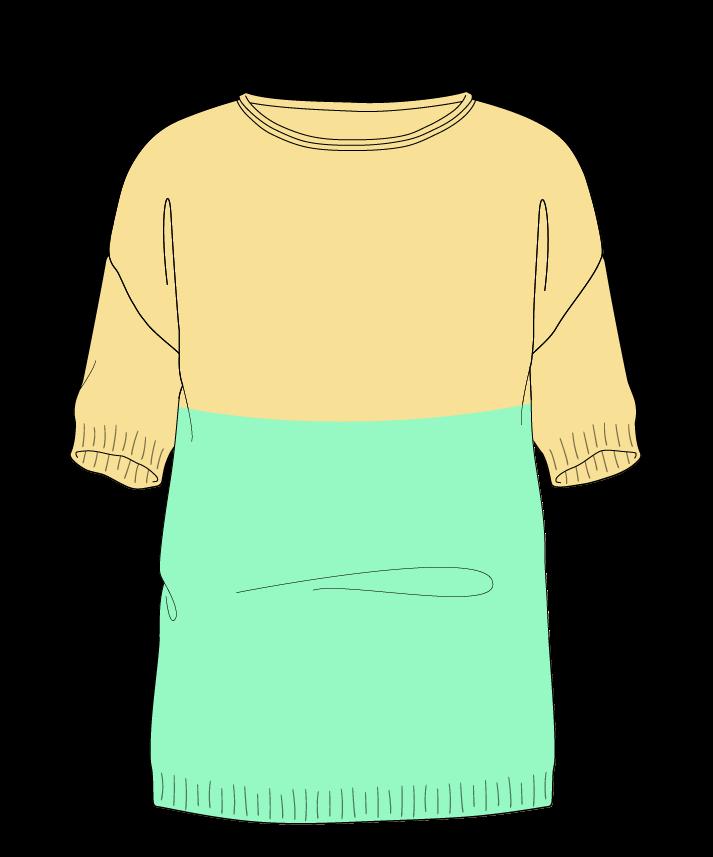 Regular fit Full length body Boat neck Short sleeve Colorblock 1 Plain Plain dropshoulder worsted 42