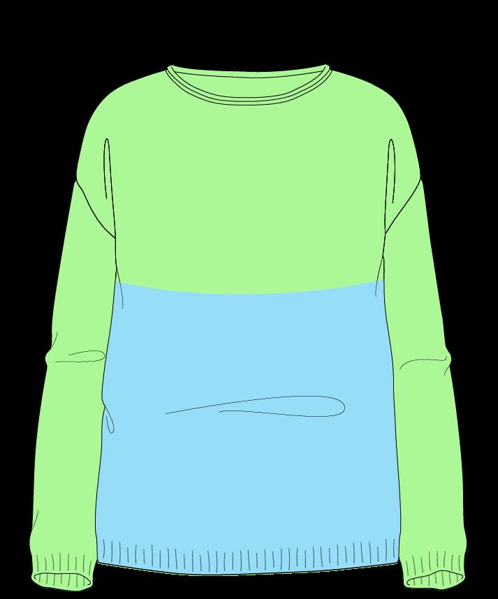 Relaxed fit Full length body Boat neck Long sleeve Colorblock 1 Plain Plain dropshoulder sport 38