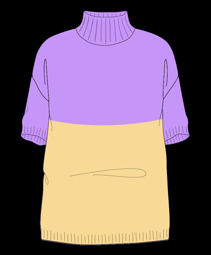 Relaxed fit Full length body Mock turtleneck Short sleeve Colorblock 1 Plain Plain dropshoulder sport 50