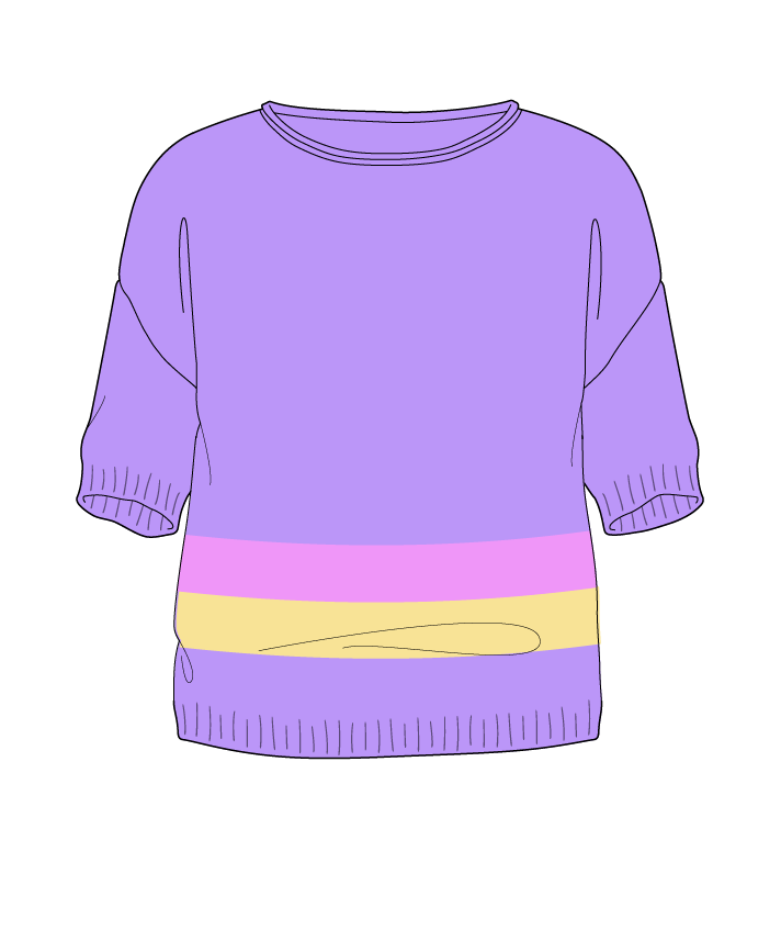 Regular fit Cropped body Boat neck Short sleeve Chunky stripes Plain Plain dropshoulder sport 30