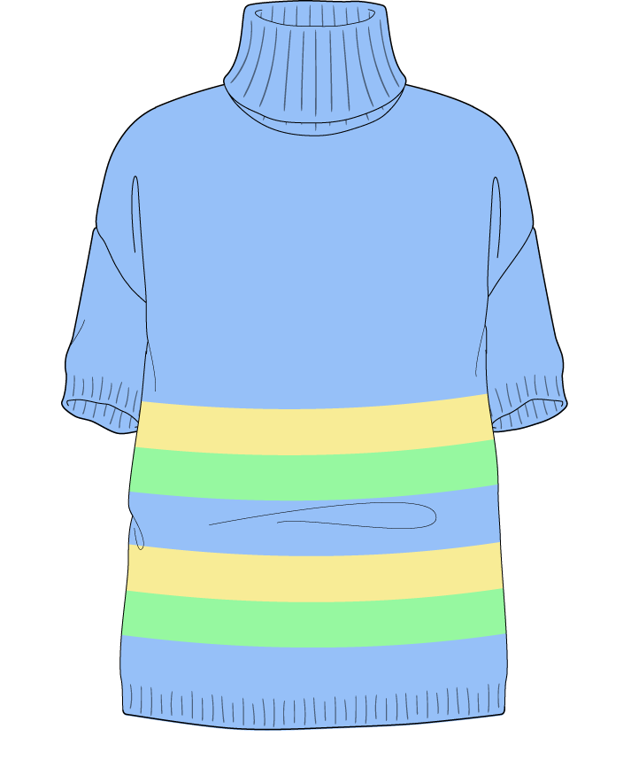 Relaxed fit Full length body Turtleneck Short sleeve Chunky stripes Plain Plain dropshoulder worsted 54