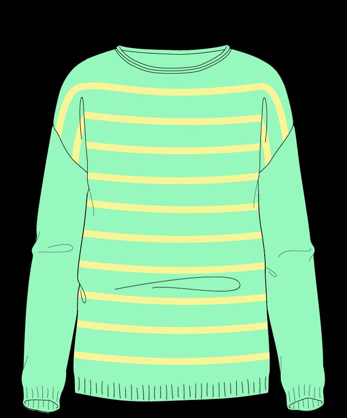 Regular fit Full length body Boat neck Long sleeve Narrow stripes Narrow stripes Plain dropshoulder sport 54
