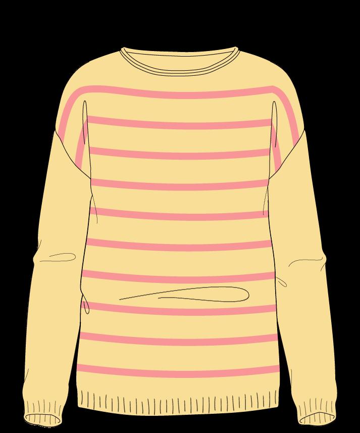 Regular fit Full length body Boat neck Long sleeve Narrow stripes Narrow stripes Plain dropshoulder worsted 30