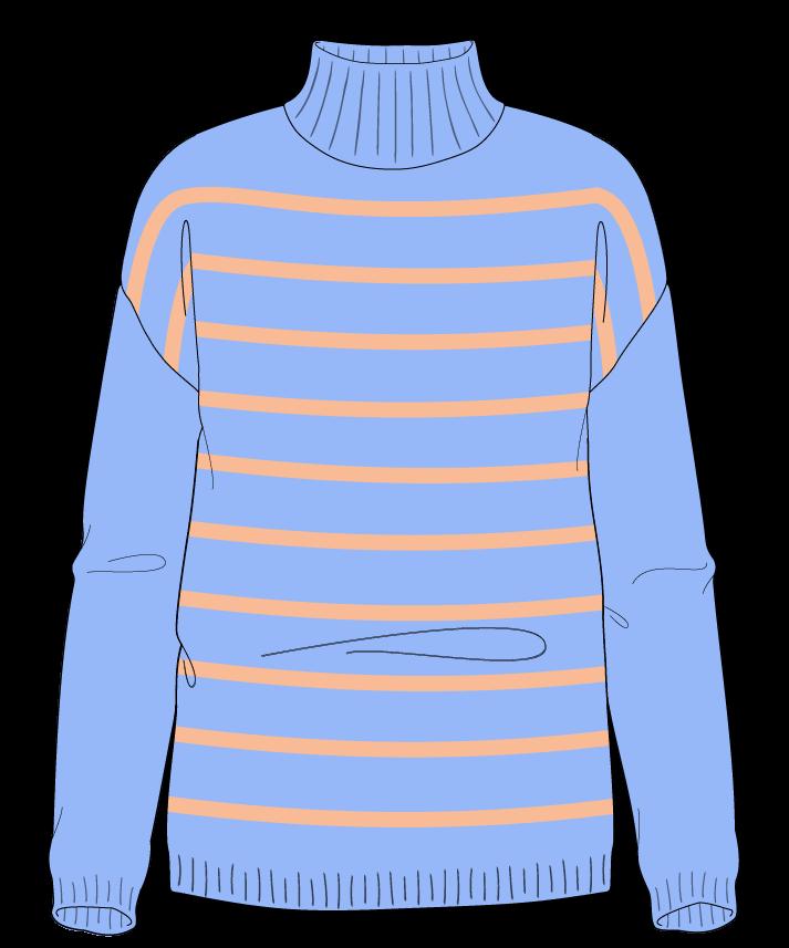 Regular fit Full length body Mock turtleneck Long sleeve Narrow stripes Narrow stripes Plain dropshoulder worsted 54