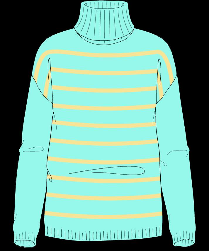 Regular fit Full length body Turtleneck Long sleeve Narrow stripes Narrow stripes Plain dropshoulder sport 42