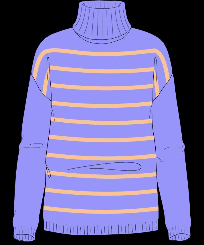 Regular fit Full length body Turtleneck Long sleeve Narrow stripes Narrow stripes Plain dropshoulder worsted 50