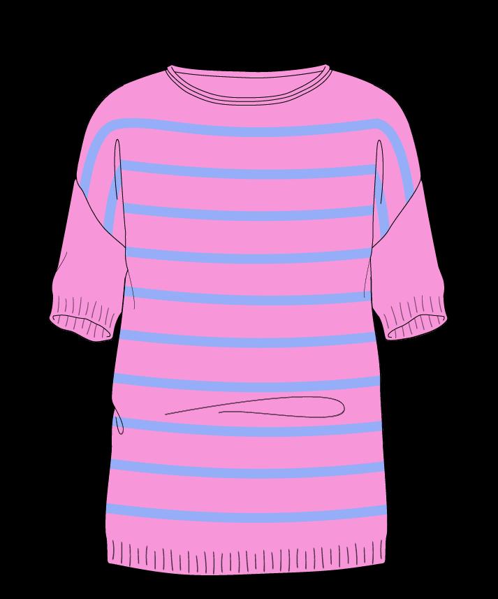Regular fit Full length body Boat neck Short sleeve Narrow stripes Narrow stripes Plain dropshoulder worsted 38