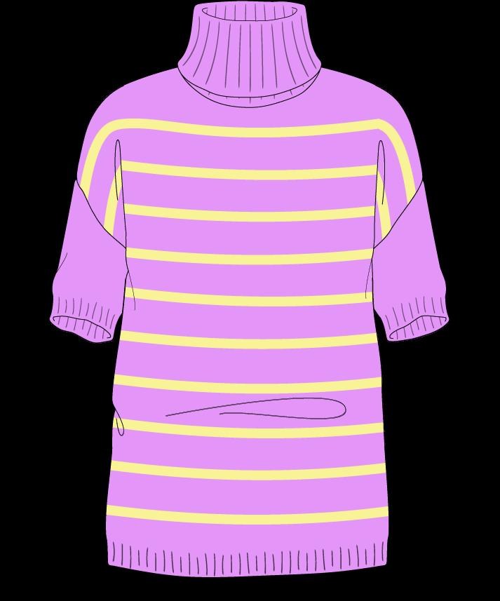 Regular fit Full length body Turtleneck Short sleeve Narrow stripes Narrow stripes Plain dropshoulder sport 50