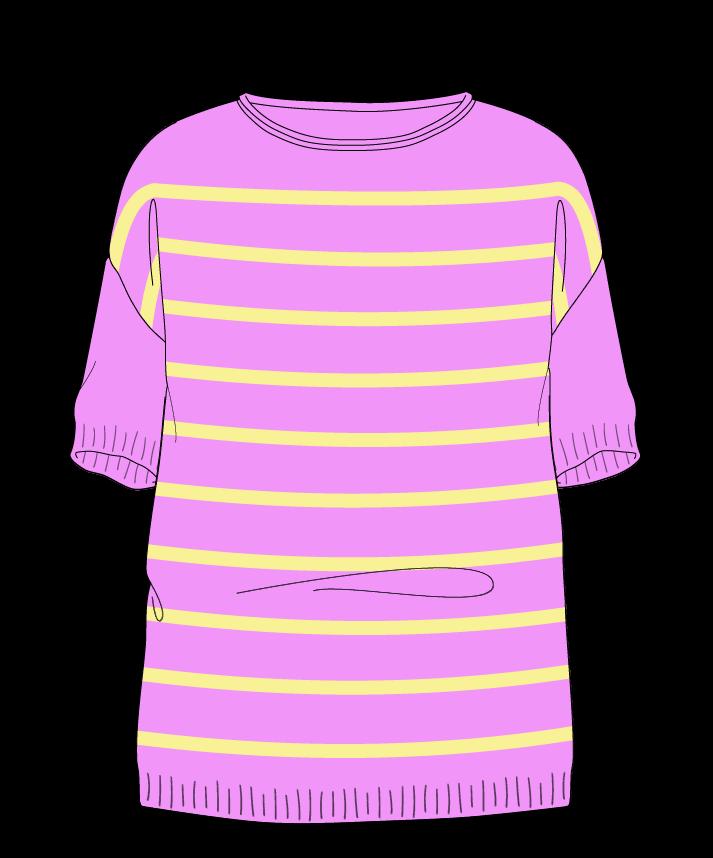 Relaxed fit Full length body Boat neck Short sleeve Narrow stripes Narrow stripes Plain dropshoulder sport 34