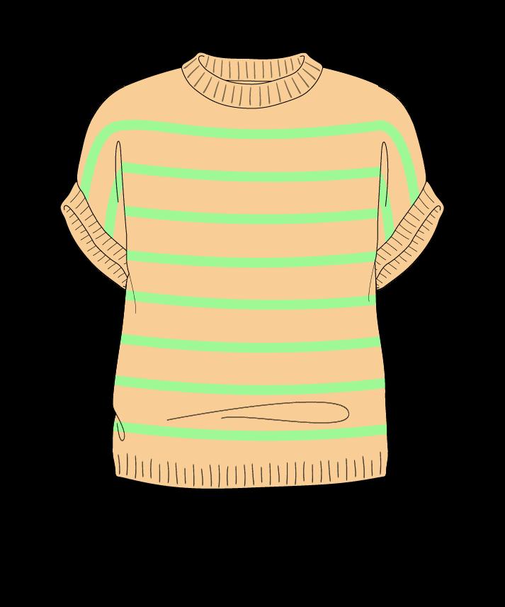 Regular fit Cropped body Crew neck Sleeveless Narrow stripes Narrow stripes Plain dropshoulder dk 50