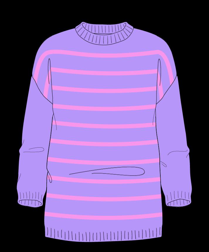 Regular fit Full length body Crew neck Three quarter sleeve Narrow stripes Narrow stripes Plain dropshoulder dk 54