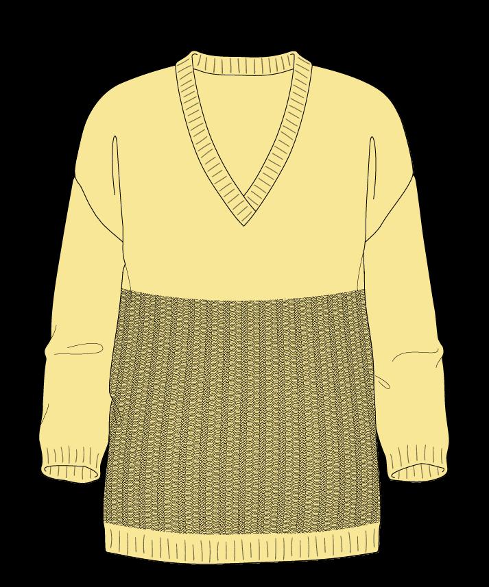 Regular fit Full length body V-neck Three quarter sleeve Purse stitch Plain Plain dropshoulder dk 50