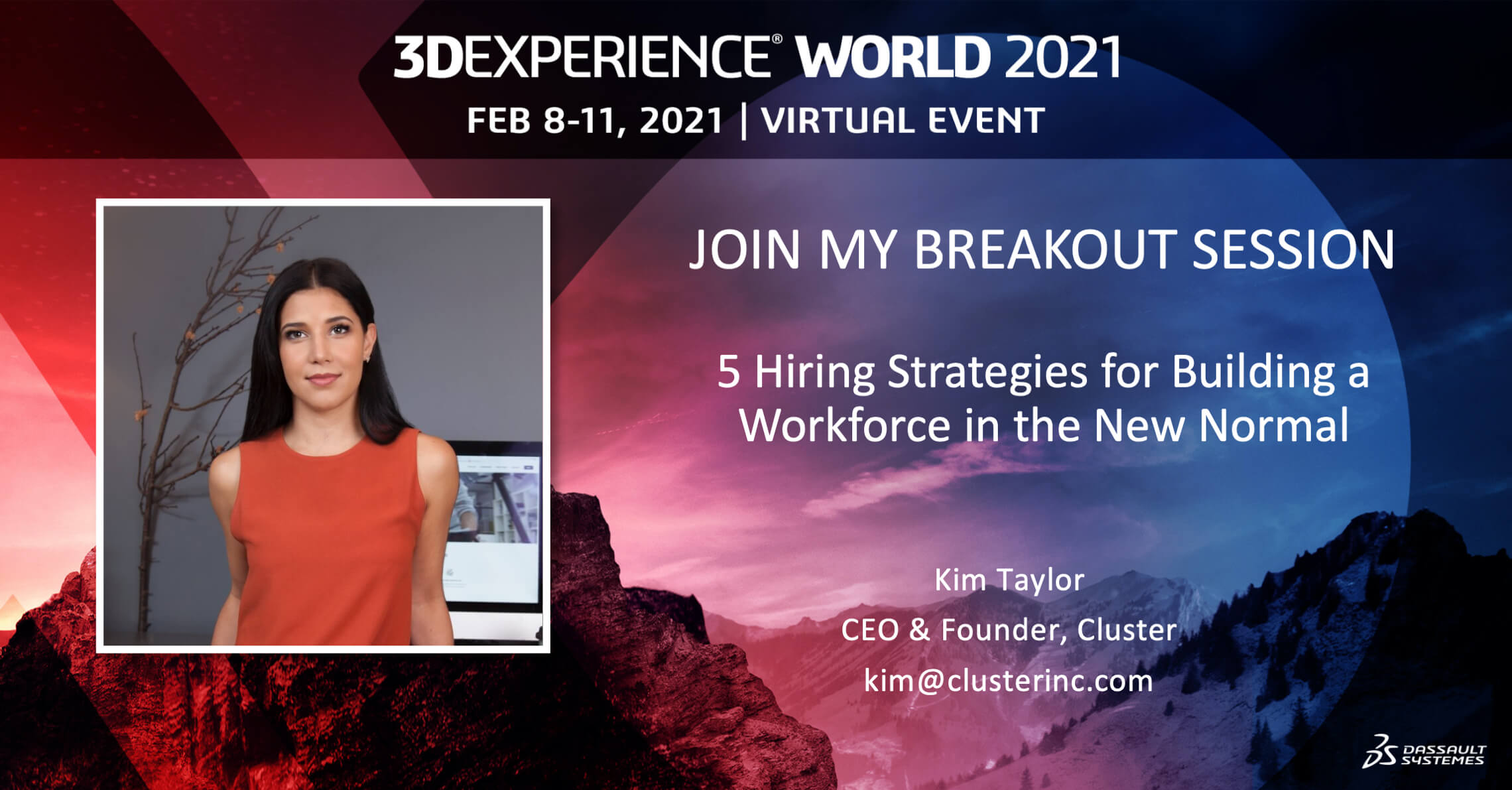 Cluster CEO KiM Taylor Presents at 3DEXPERIENCE World 2021