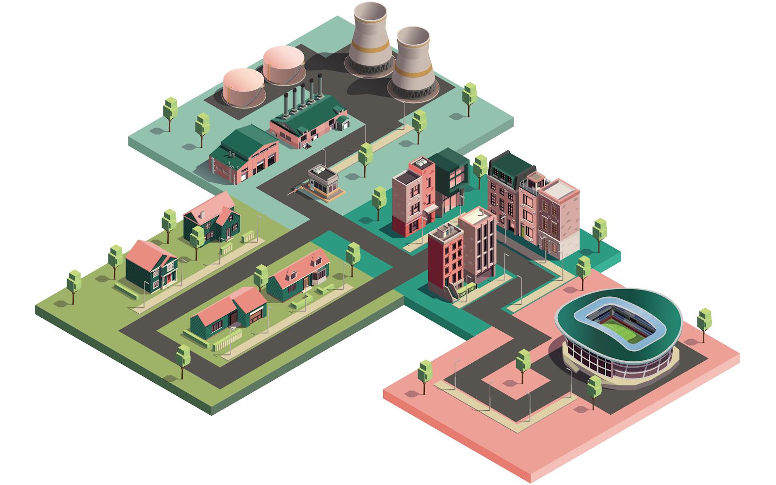 Illustration d'un quartier de ville