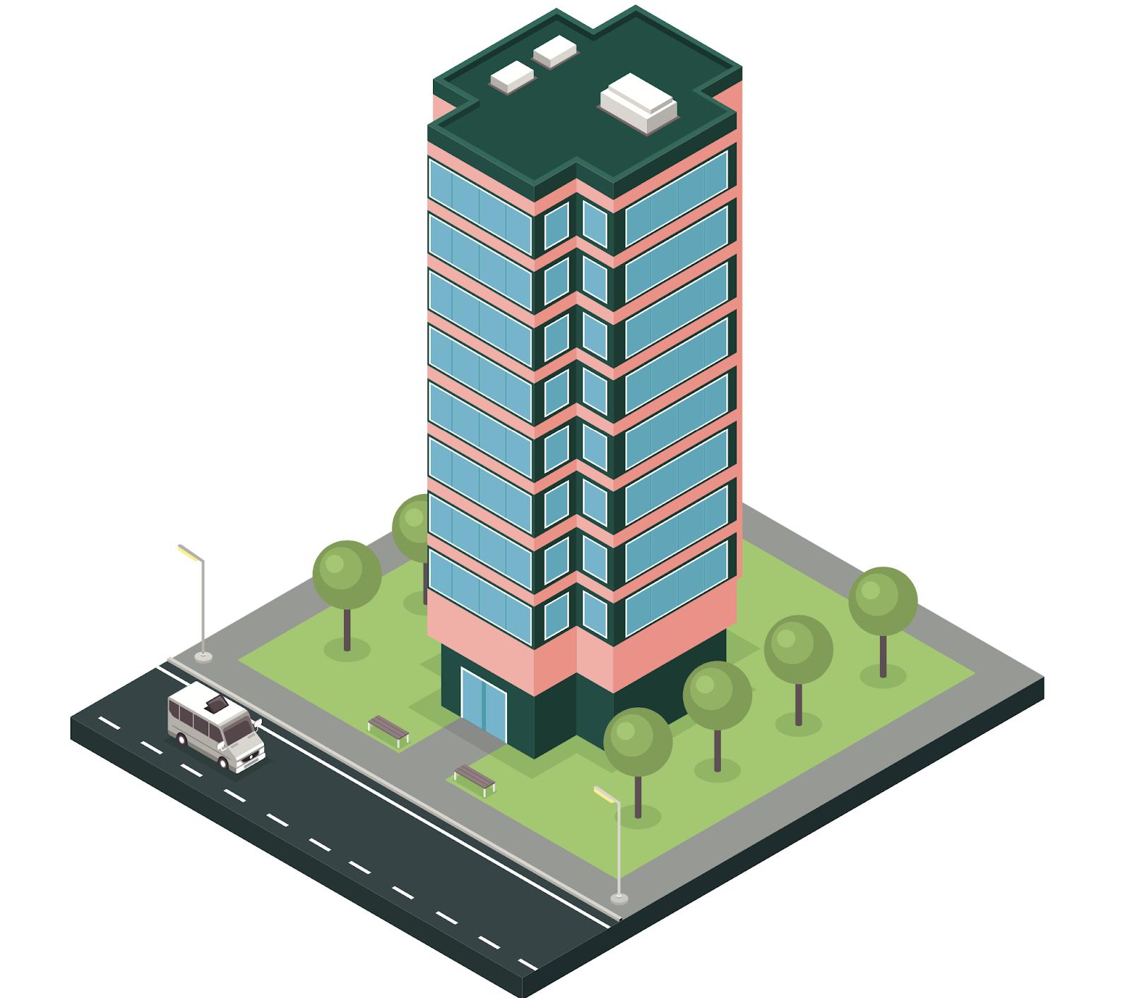 Illustration d'immeuble