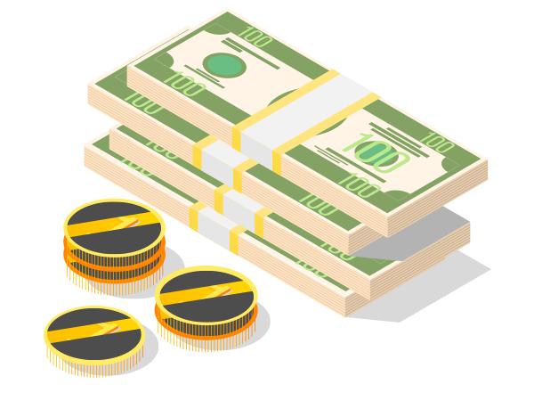 Billets et pièces de monnaies