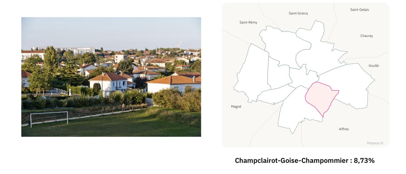 Quartier Goise à Niort ⎮ Carte des quartiers de Niort