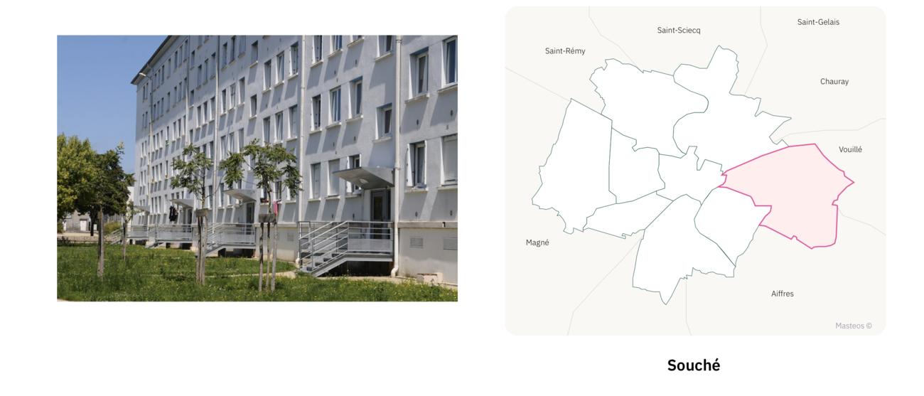 Quartier Souché à Niort ⎮ Carte des quartiers de Niort