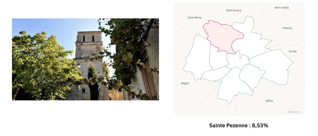 Eglise Sainte Pezenne à Niort ⎮ Carte des quartiers de Niort