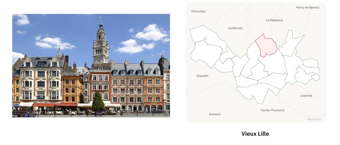 Terrasses du Vieux Lille ⎮ Carte des quartiers de Lille