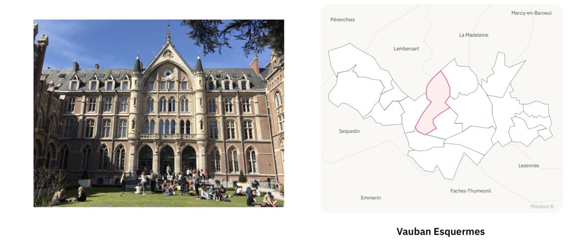 Université Catholique de Lille ⎮ Carte des quartiers de Lille