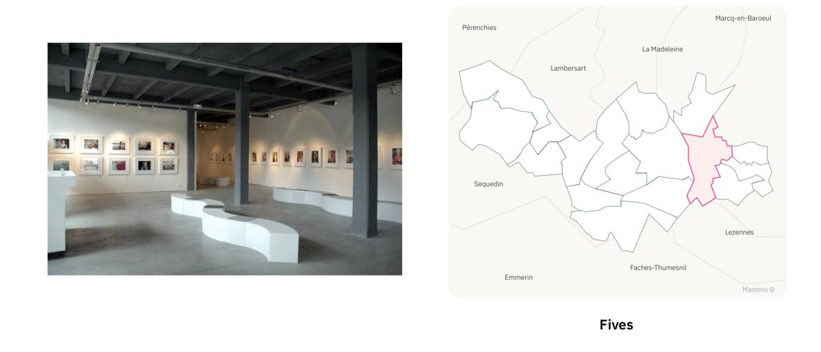 Maison de la Photographie à Fives ⎮ Carte des quartiers de Lille