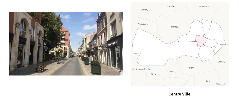 Centre ville d'Epernay ⎮ Carte des quartiers d'Epernay