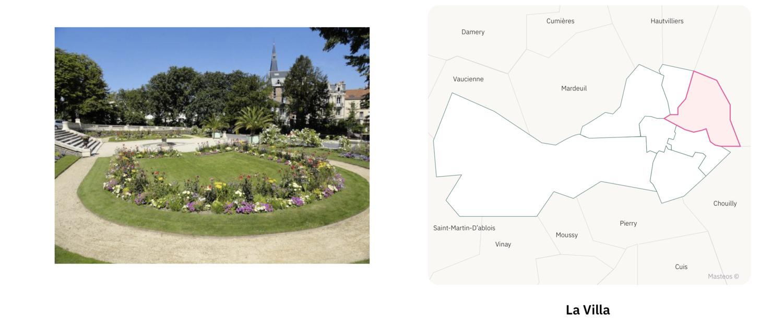 Parc du secteur La Villa ⎮ Carte des quartiers d'Epernay