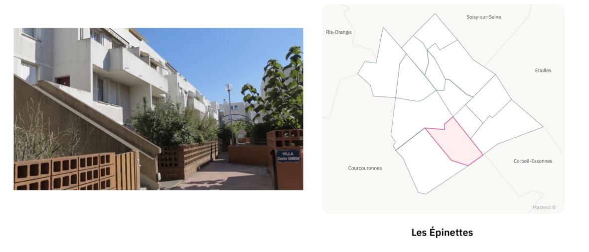 Secteur les Epinettes ⎮ Carte des quartiers d'Evry