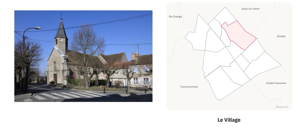 Secteur Le Village ⎮ Carte des quartiers d'Evry