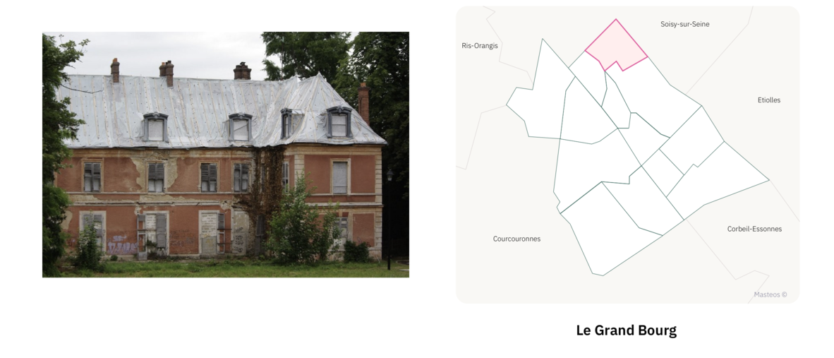 Chateau du Grand Bourg⎮ Carte des quartiers d'Evry