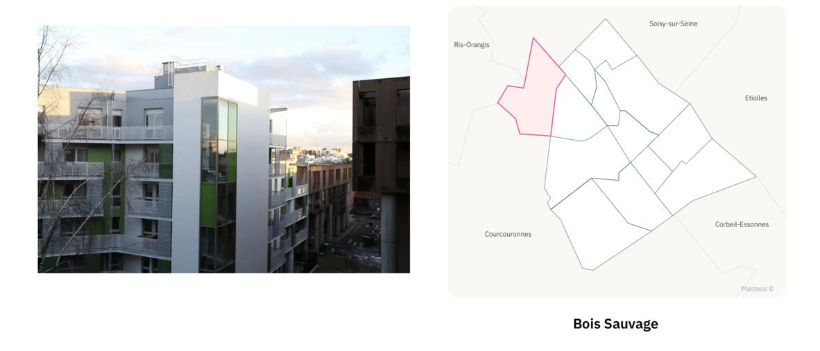 Secteur Bois Sauvage ⎮ Carte des quartiers d'Evry