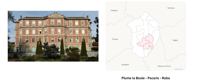 Secteur Plume la Boule Pacaris Raba ⎮ Carte des quartiers de Talence